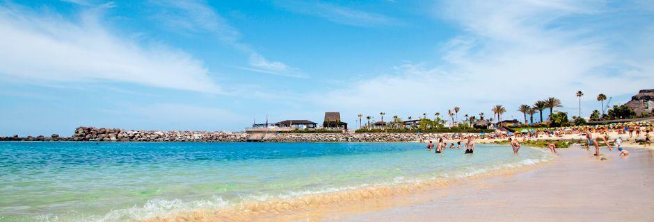 Stranden i Playa de Amadores på Gran Canaria, Spanien.