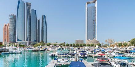 Al Bateen marina i Abu Dhabi, Förenade Arabemiraten.