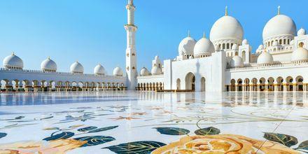 Den vackra moskén Sheikh Zayed i Abu Dhabi, Förenade Arabemiraten.