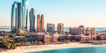 Skyline i Abu Dhabi, Förenade Arabemiraten.