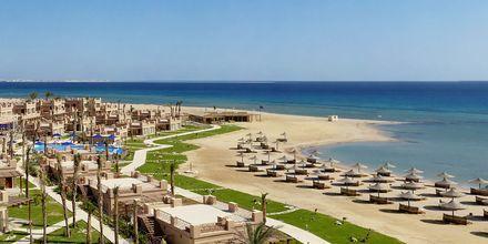 Stranden vid hotell Shams Prestige Abu Soma i Soma Bay, Egypten.