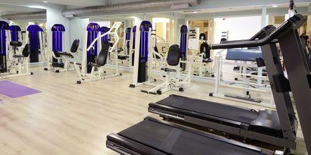 Gym på hotell Aegean Houses på Kos, Grekland.