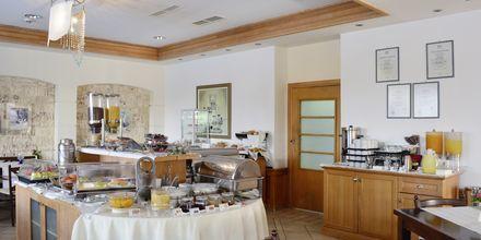 Restaurang på hotell Aegean Houses på Kos, Grekland.