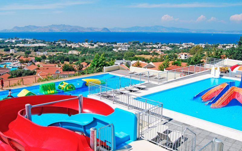 Hotell Aegean View Aqua Resort i Psalidi, Kos.