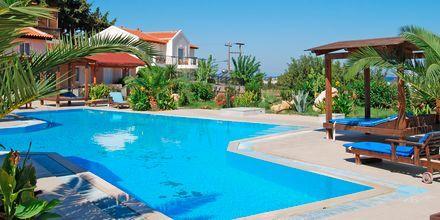 Poolområde på Aegean View Aqua Resort i Psalidi, Kos.