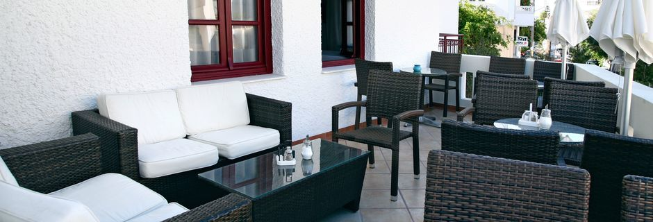 Hotell Aeolis i Naxos stad, Grekland.