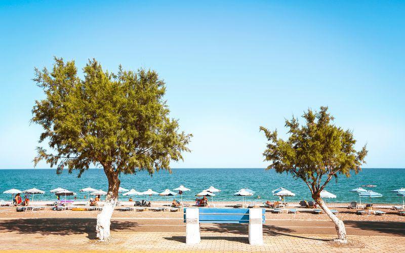 Afandoustranden på Rhodos, Grekland.