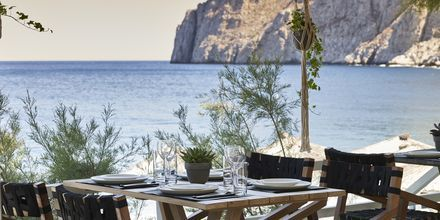 Restaurang Mesogaia på hotell Afrodite i Kamari, på Santorini, Grekland.