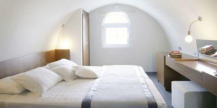 Större superiorrum på hotell Afrodite i Kamari på Santorini, Grekland.