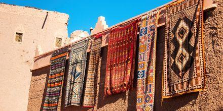 Mattförsäljning i Agadir, Marocko.