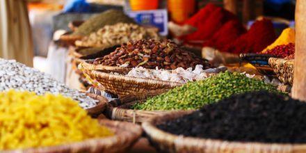 Kryddförsäljning i Agadir, Marocko.