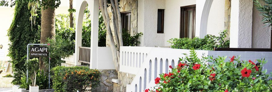 Hotell Agapi i Platanias på Kreta, Grekland.