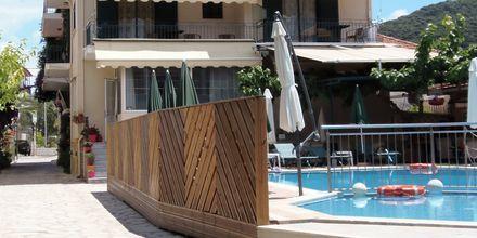 Hotell Aggelos på Lefkas, Grekland.