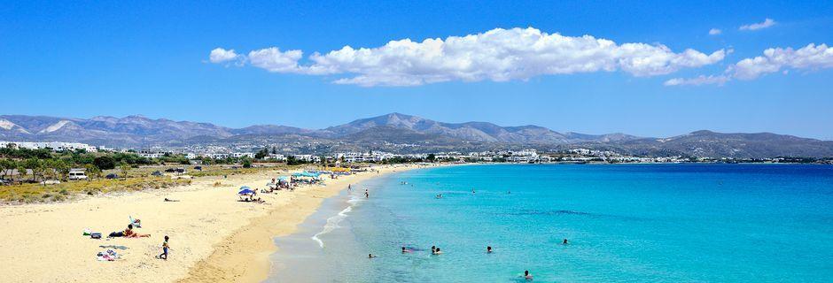 Agios Prokopios Beach på Naxos, Grekland.