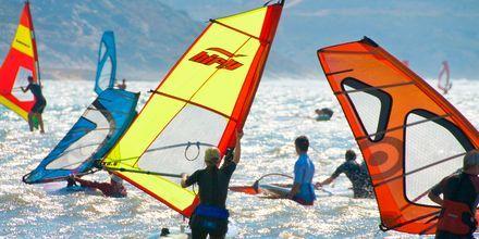 Windsurfing på Naxos i Grekland.
