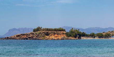 Sköna dopp i Medelhavet i Agia Marina på Kreta, Grekland.