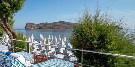 Från Agia Marina på Kreta har du utsikt över den obebodda ön Agios Theodoroi.