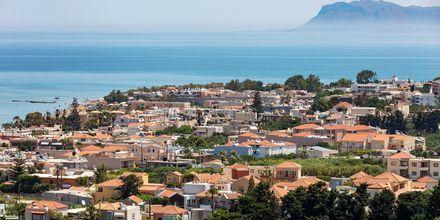 Utsikt över Agia Marina på Kreta, Grekland.