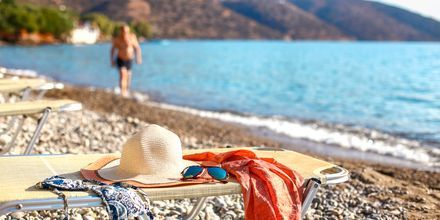 Havania Beach vid Agios Nikolaos på Kreta.