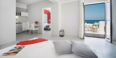 Tvårumslägenhet på hotell Akrogiali i Malia på Kreta, Grekland.