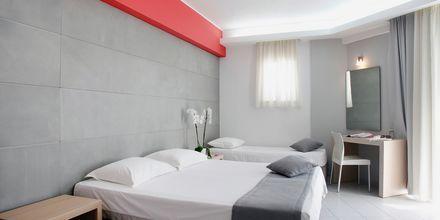 Enrumslägenhet på hotell Akrogiali i Malia på Kreta, Grekland.