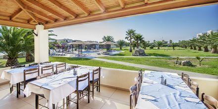 Restaurangen på hotell Akti Beach Club i Kardamena på Kos, Grekland.