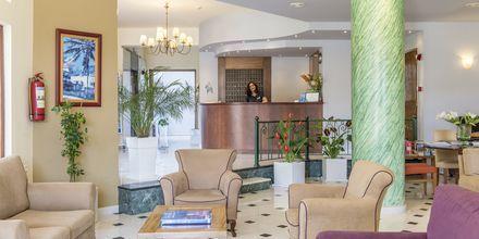 Receptionen på hotell Akti Chara i Rethymnon på Kreta, Grekland.