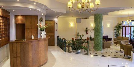 Lobby på hotell Akti Chara på i Rethymnon på Kreta, Grekland.