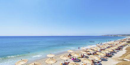 Stranden vid hotell Akti Palace i Kardamena på Kos, Grekland.