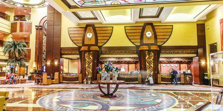 Lobbyn på hotell Al Raha Beach i Abu Dhabi, Förenade Arabemiraten.
