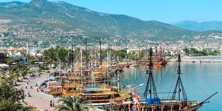 Hamnen i Alanya i Turkiet.