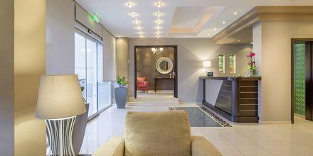 Lobbyn på hotell Albatros i Sivota, Grekland.