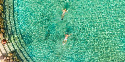 Ta en snorklingstur i lagunen.