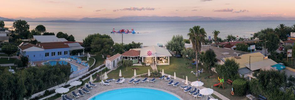 Hotell Albatros på Korfu, Grekland.