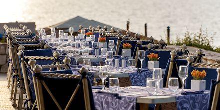 Restaurang Olympia på hotell Aldemar Olympian Village i Skafidia, Grekland.