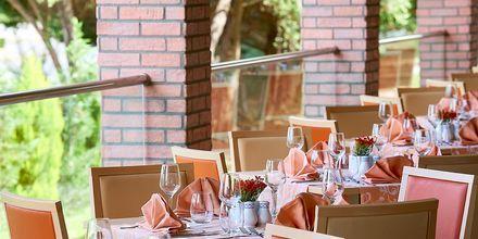 Restaurang Sympossio på hotell Aldemar Olympian Village i Skafidia, Grekland.