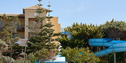 Vattenrutschkana på hotell Aldemar Olympian Village i Skafidia, Grekland.