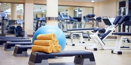Gym på hotell Aldemar Olympian Village i Skafidia, Grekland.