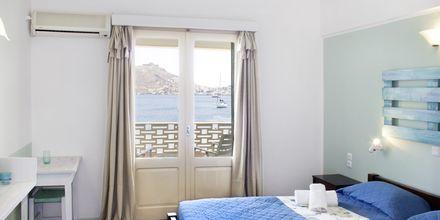 Dubbelrum på hotell Alea Mare på Leros, Grekland.