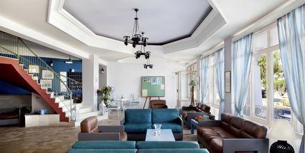 Lobbyn på hotell Alea Mare på Leros, Grekland.