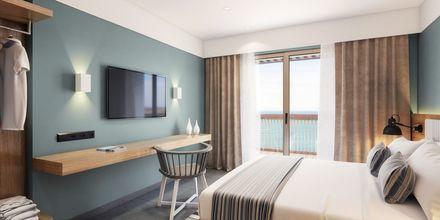 Skissbild på dubbelrum på hotell Alegria Beach Resort i Plakias på Kreta, Grekland.