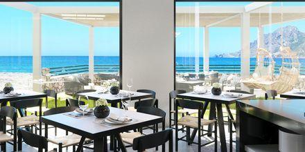 Skissbild på restaurang på hotell Alegria Beach Resort i Plakias på Kreta, Grekland.