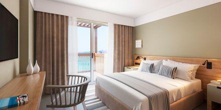 Skissbild på tvårumslägenhet på hotell Alegria Beach Resort i Plakias på Kreta, Grekland.