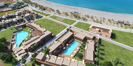 Skissbild på hotellområdet på hotell Alegria Beach i Plakias, Grekland.