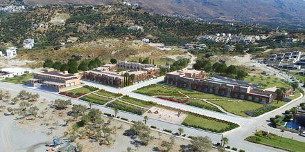 Skissbild på hotell Alegria Beach Resort i Plakias, Grekland.