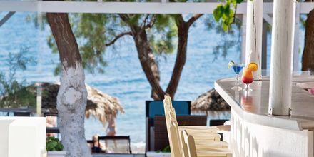 Bar på hotell Alesahne Beach på Santorini, Grekland.