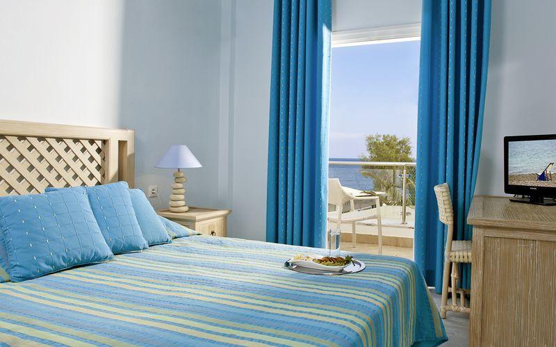 Superiorrum på hotell Alesahne Beach på Santorini, Grekland.