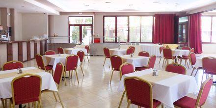 Restaurang på hotell Alexandros på Lefkas, Grekland.
