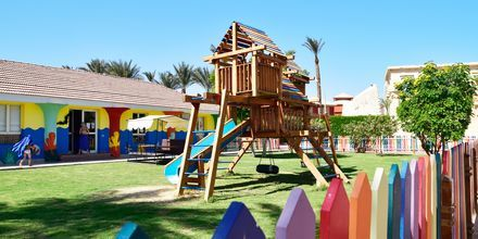 Lekplats på Alf Leila Wa Leila Waterpark i Hurghada.
