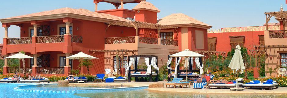 Pool vid Alf Leila Wa Leila Waterpark i Hurghada.